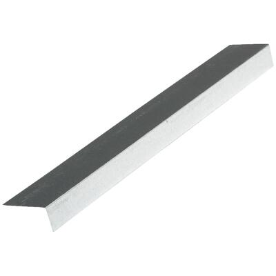 NorWesco A 1-1/2 In. X 1-1/2 In. Galvanized Steel Roof & Drip Edge Flashing