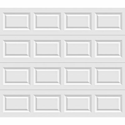 Holmes Bronze Series 9 Ft. W x 7 Ft. H White Steel Garage Door w/EZ-Set Torsion Spring