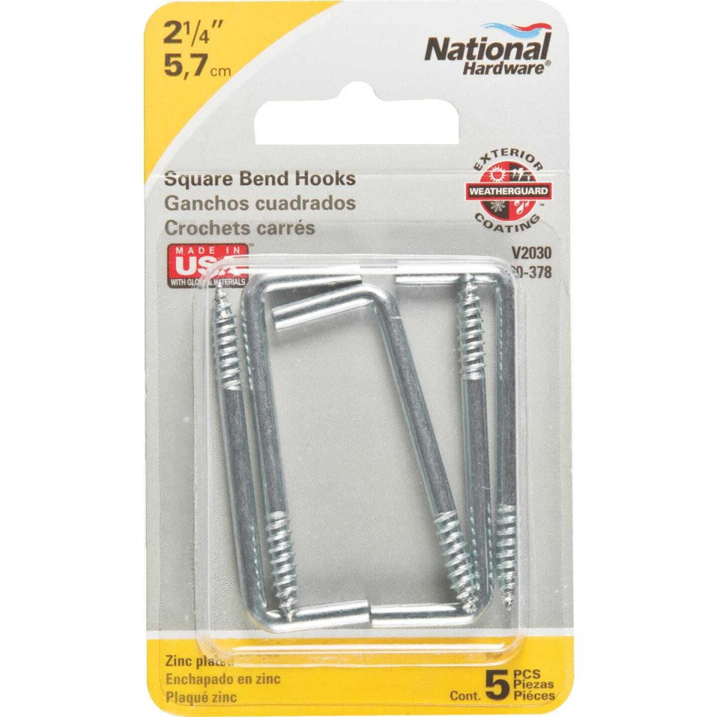 National 2030 Series #108 Square Bend Screw Hook Shoulder Hook (5 Count) Image 2